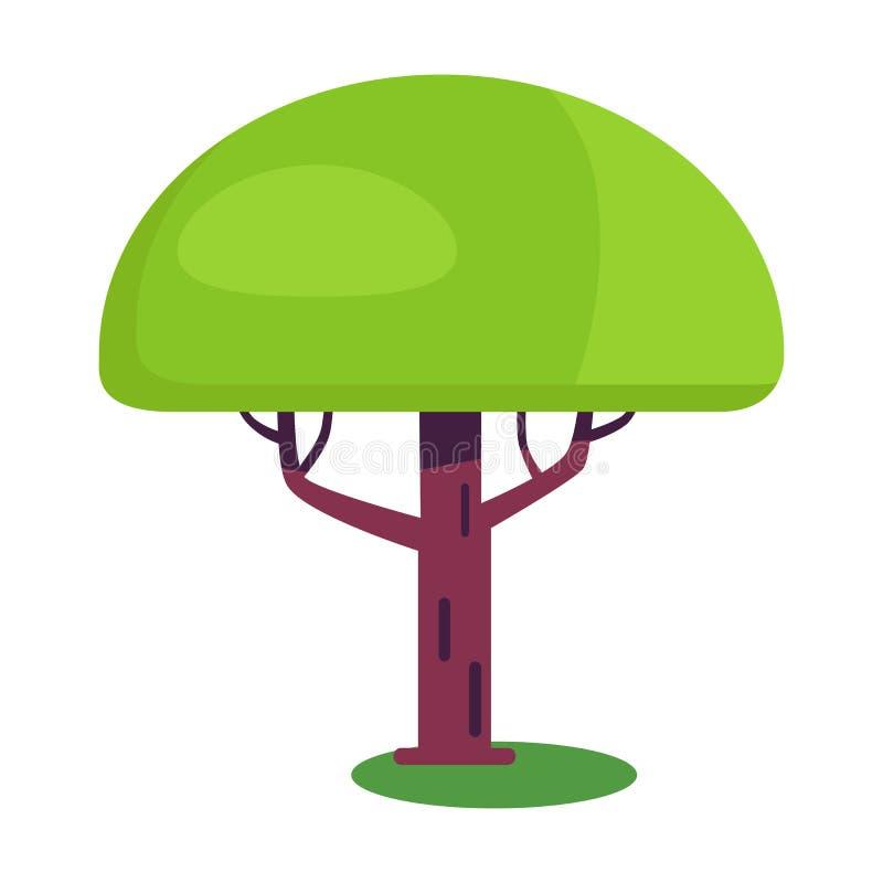 Дерево баобаба короткое с огромно толстым хоботом бесплатная иллюстрация