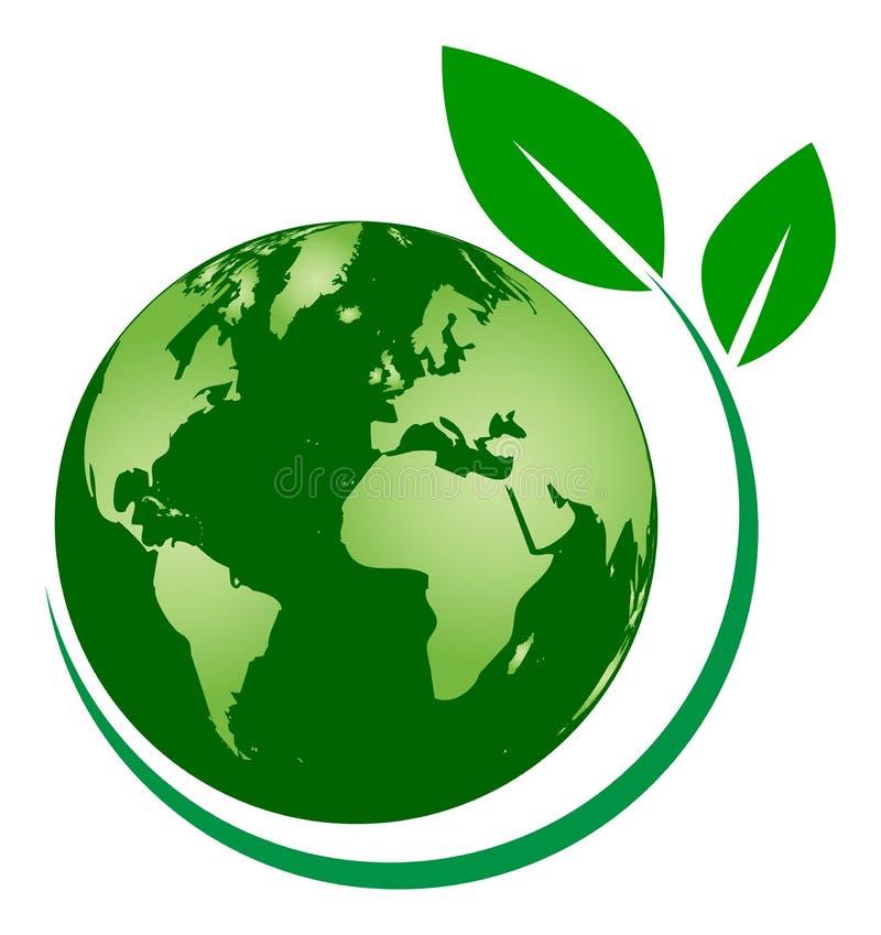Дерево глобуса логотип лист глобуса экологичности бесплатная иллюстрация