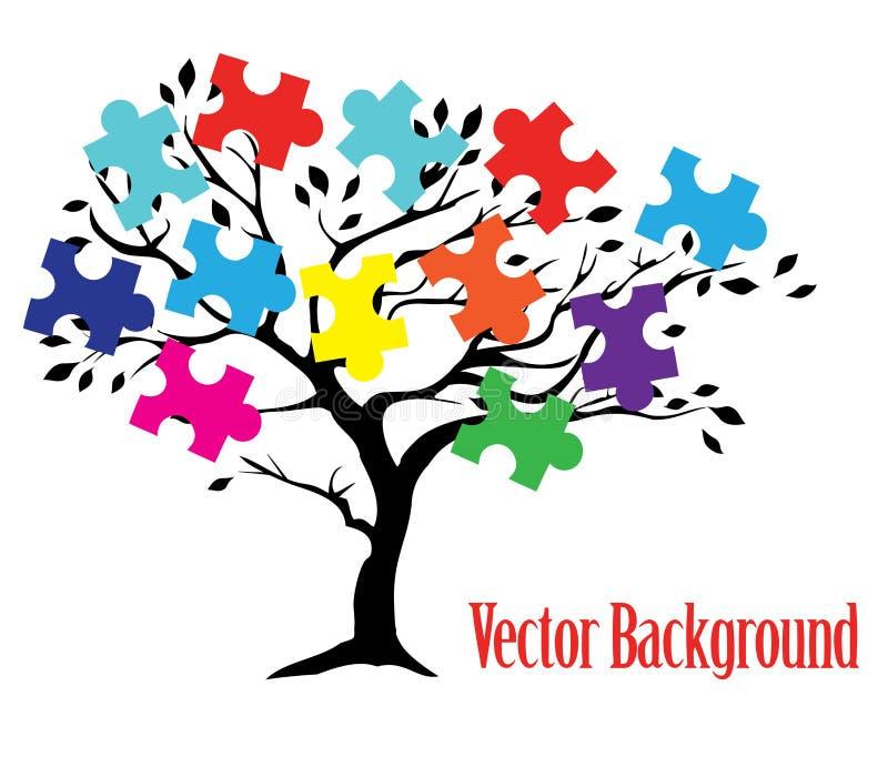Дерево головоломки иллюстрация вектора