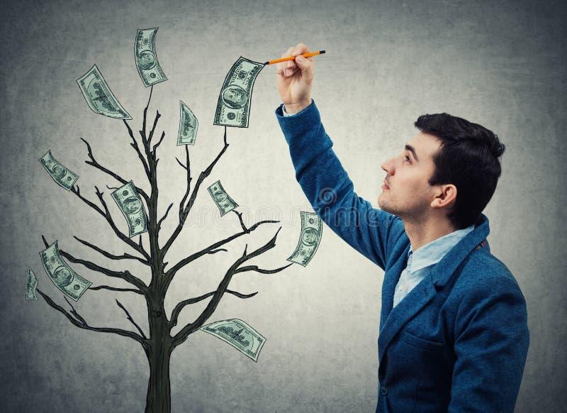 Дерево денег дела стоковое изображение