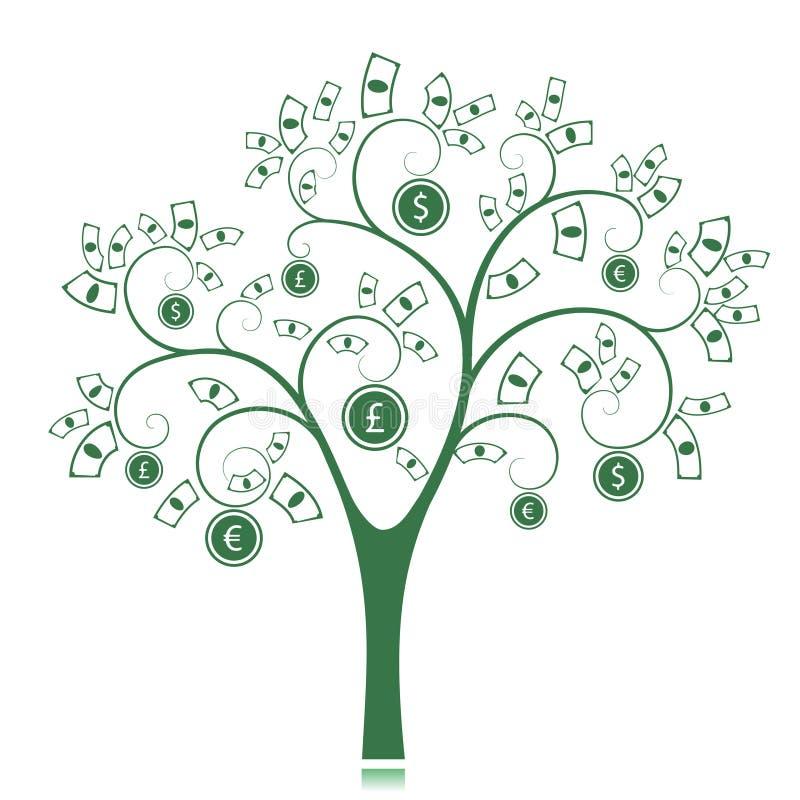 Дерево денег бесплатная иллюстрация