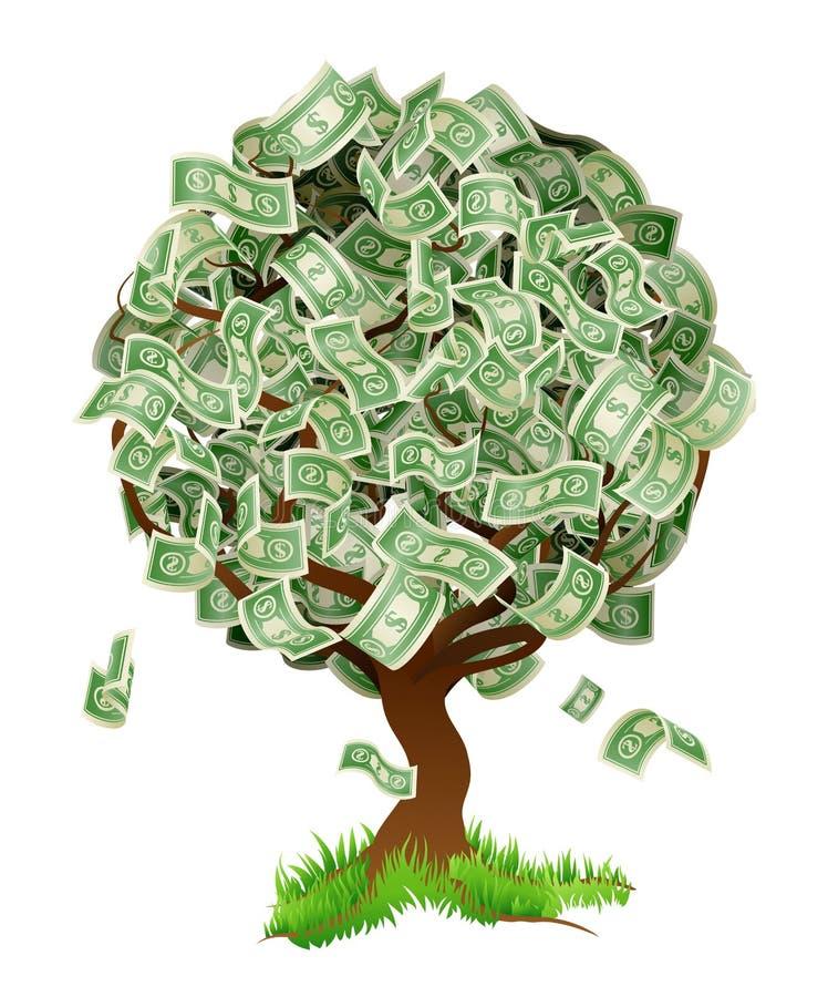 Дерево денег иллюстрация вектора