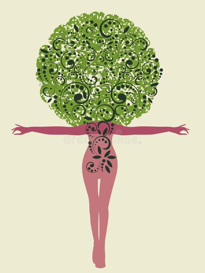 Дерево женщины иллюстрация штока