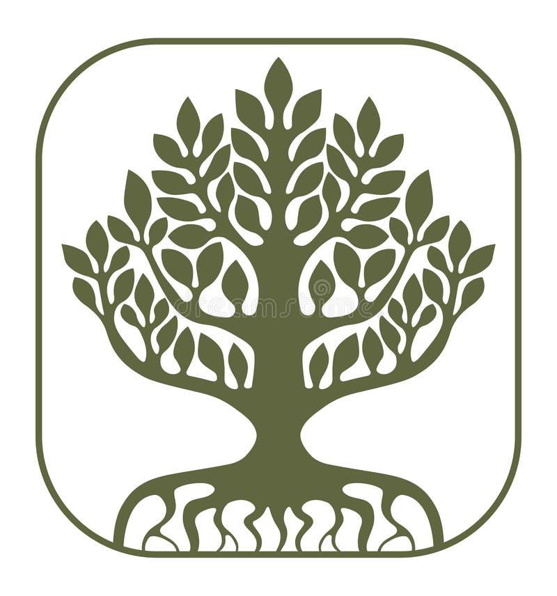 Дерево жизни Yggdrasil иллюстрация штока