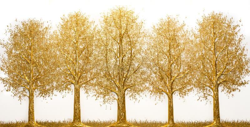 Дерево золота стоковая фотография rf