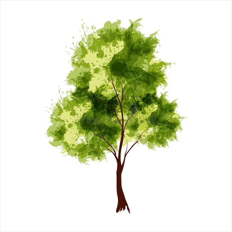 Дерево лета иллюстрация штока