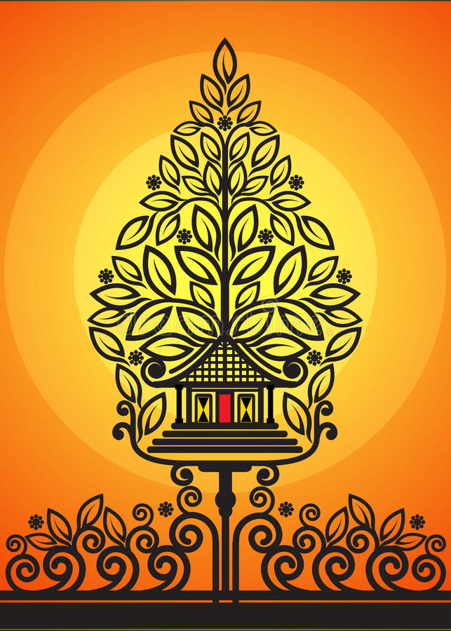 Дерево марионеток тени жизни иллюстрация штока