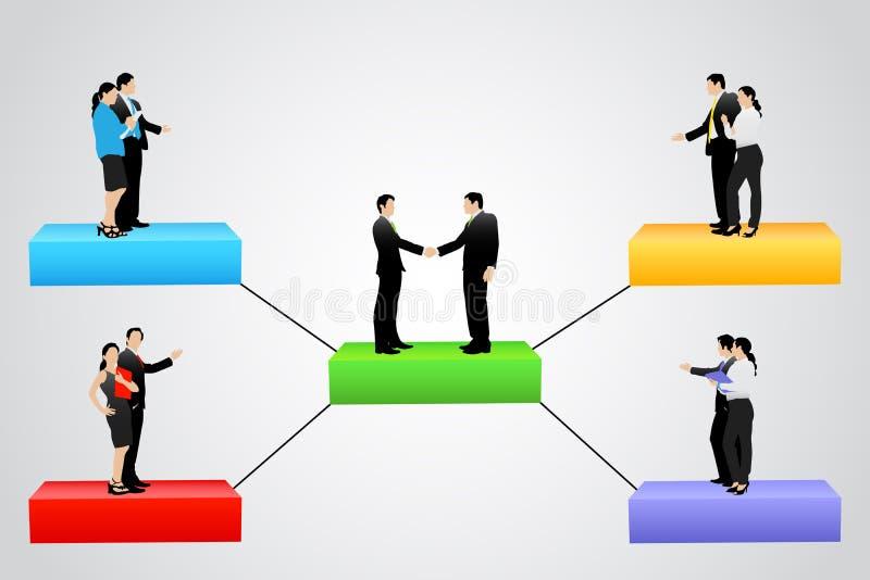 Дерево организации с различным уровнем иерархии бесплатная иллюстрация