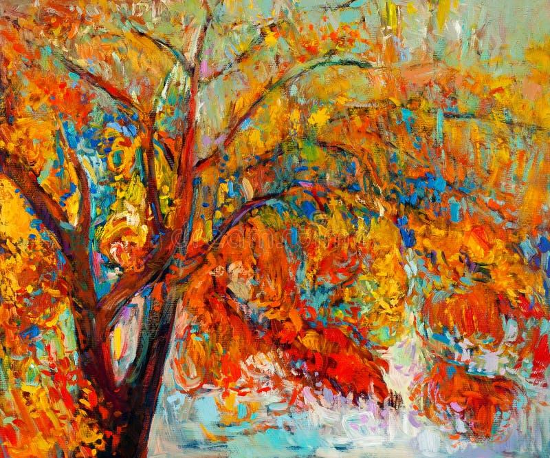 Дерево осени иллюстрация штока