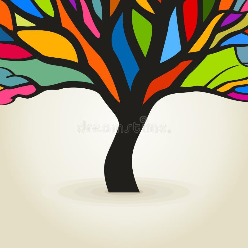Download Дерево осени иллюстрация вектора. иллюстрации насчитывающей художничества - 33736486