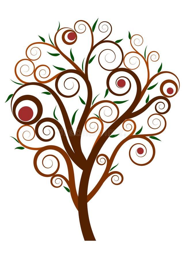Дерево свирли бесплатная иллюстрация