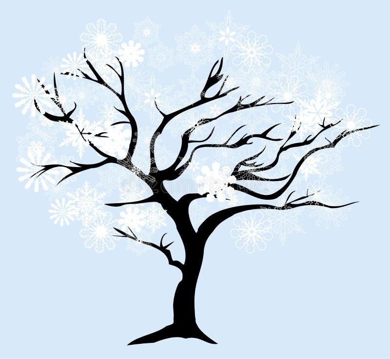 Download Дерево снега вектора иллюстрация вектора. иллюстрации насчитывающей праздник - 81814385