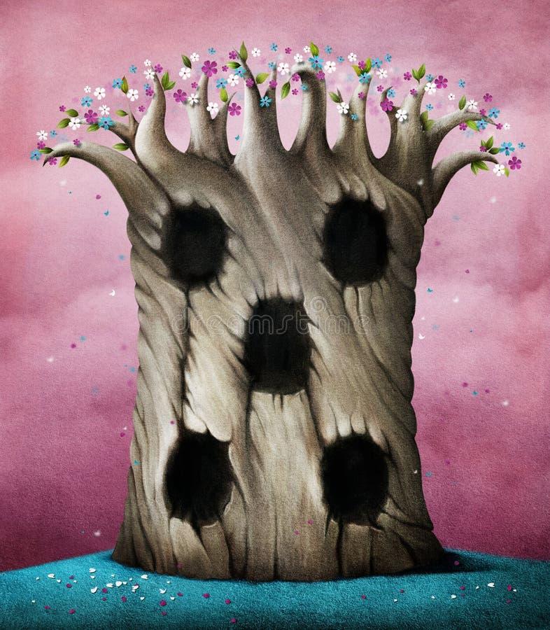 Дерево с полостями бесплатная иллюстрация