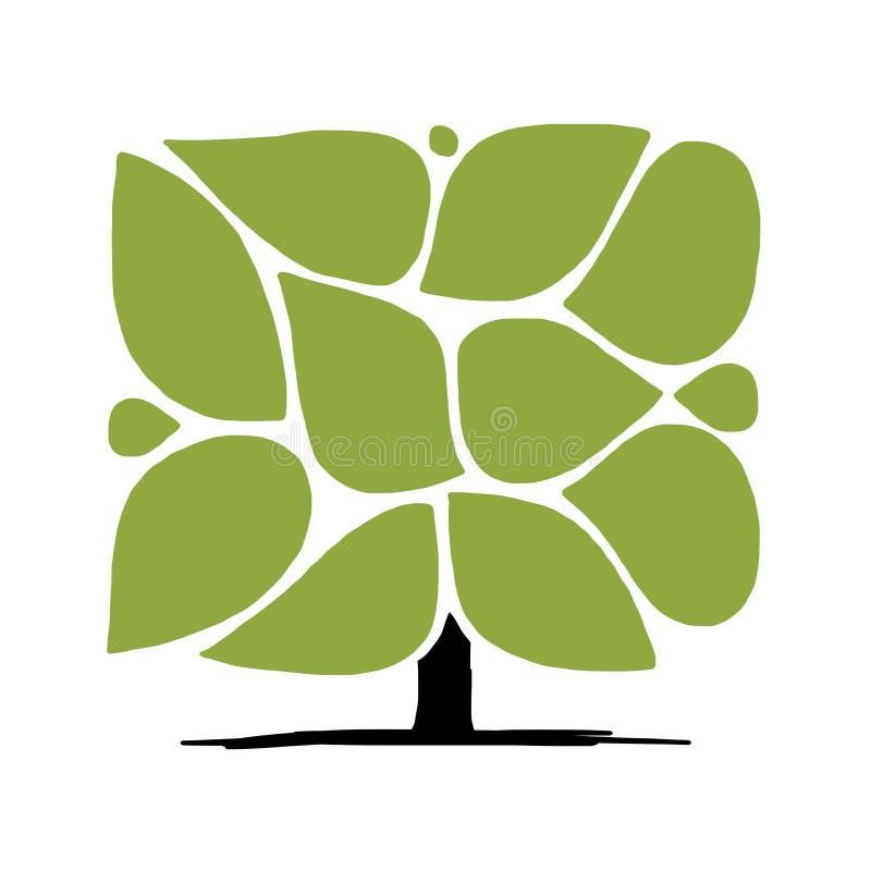 Дерево с рамками, infographic концепция искусства иллюстрация вектора