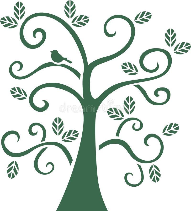 Дерево трафаретит искусство бесплатная иллюстрация