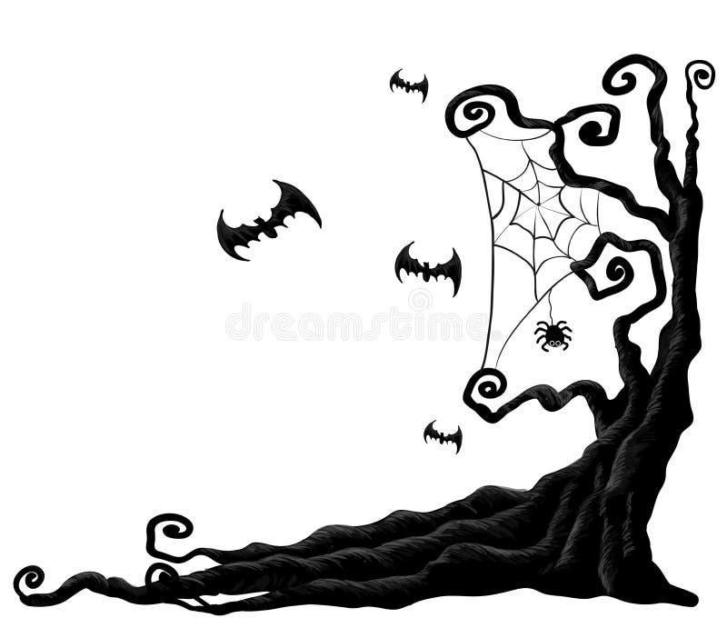 Дерево хеллоуина иллюстрация штока