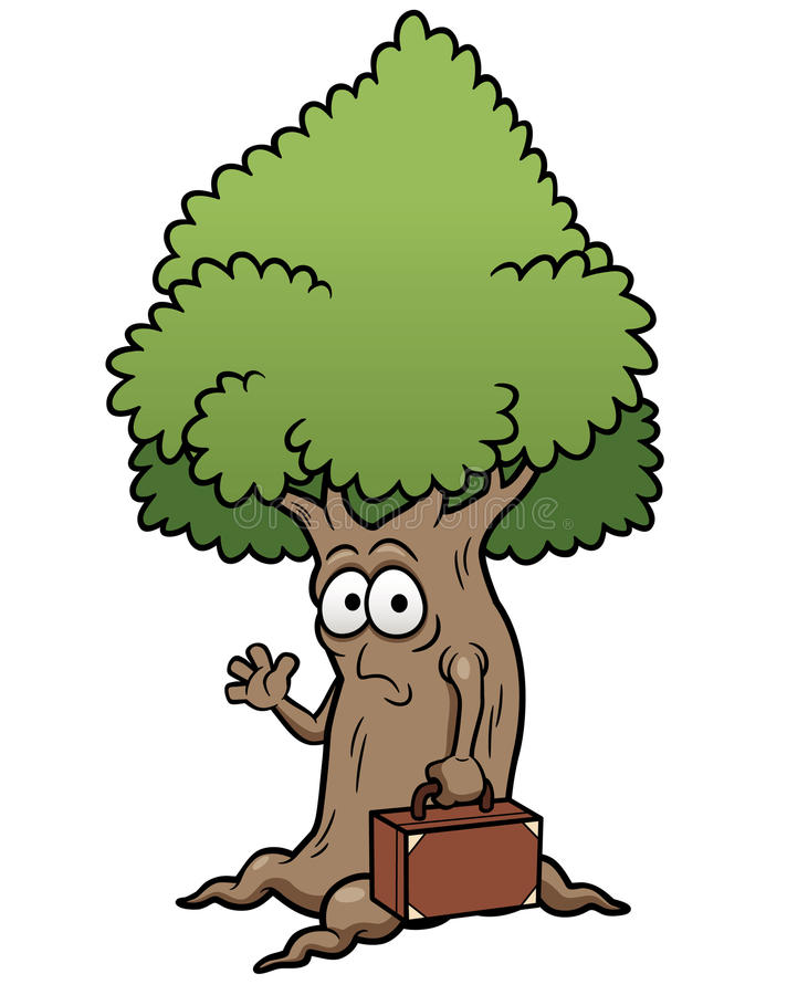 Дерево шаржа иллюстрация вектора