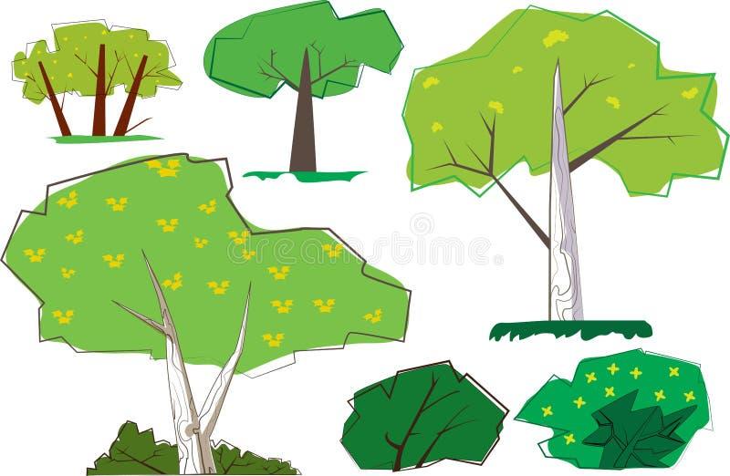 Деревья бедра 60s ретро бесплатная иллюстрация