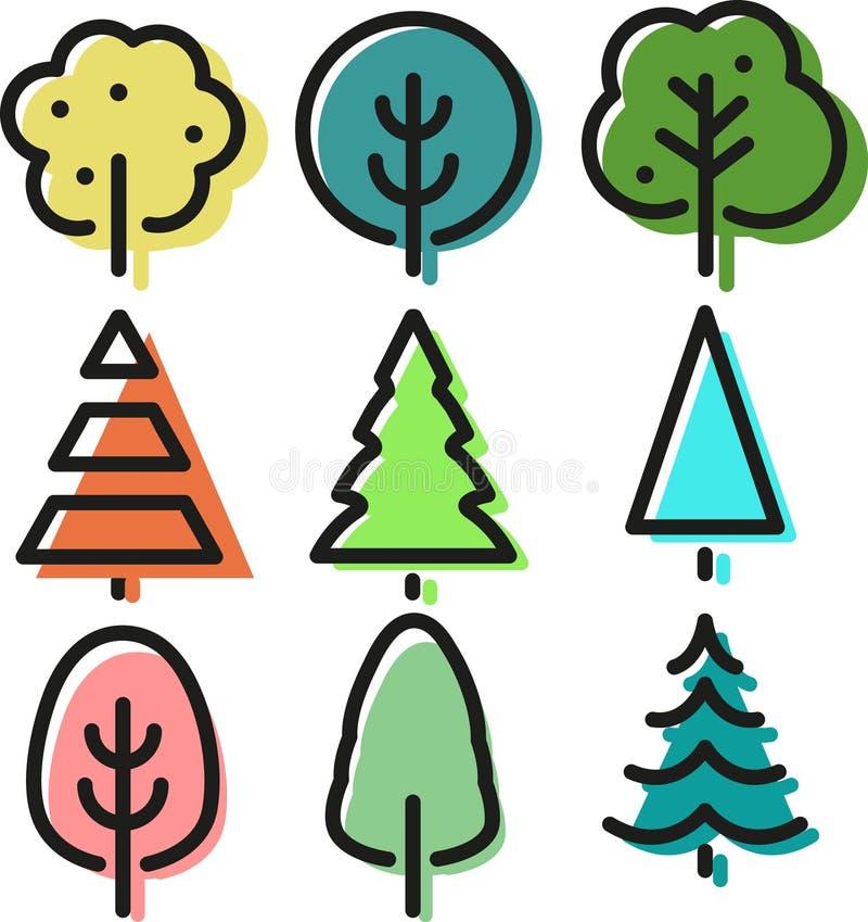 Деревья искусства шипучки иллюстрация штока