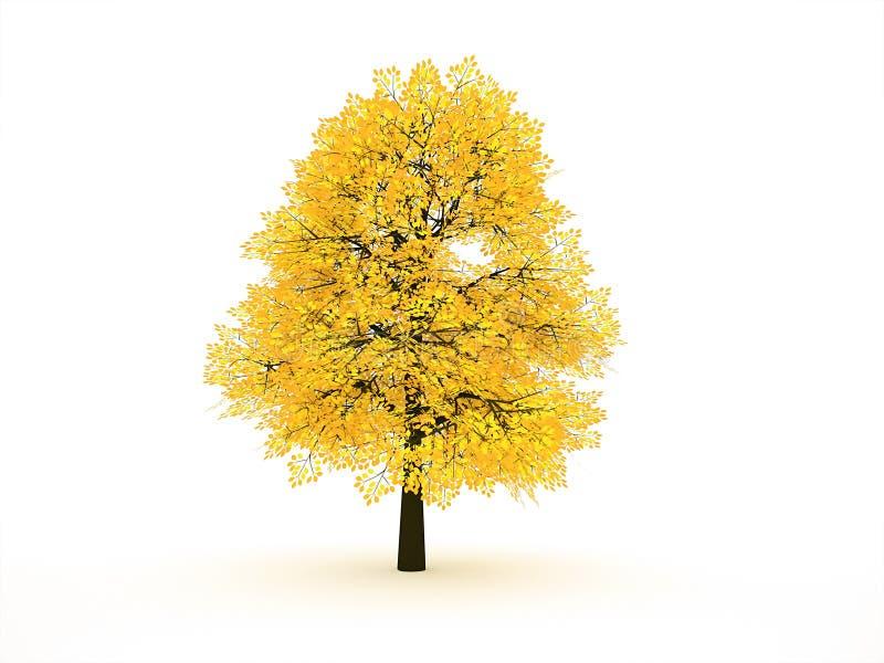 Фотосток желтое дерево на сером фоне
