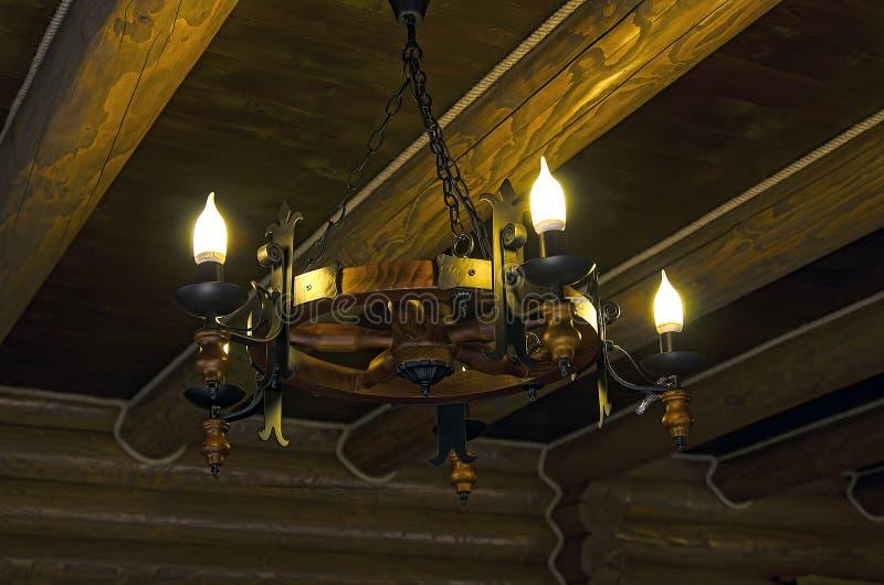 Деревянная лампа стоковое фото
