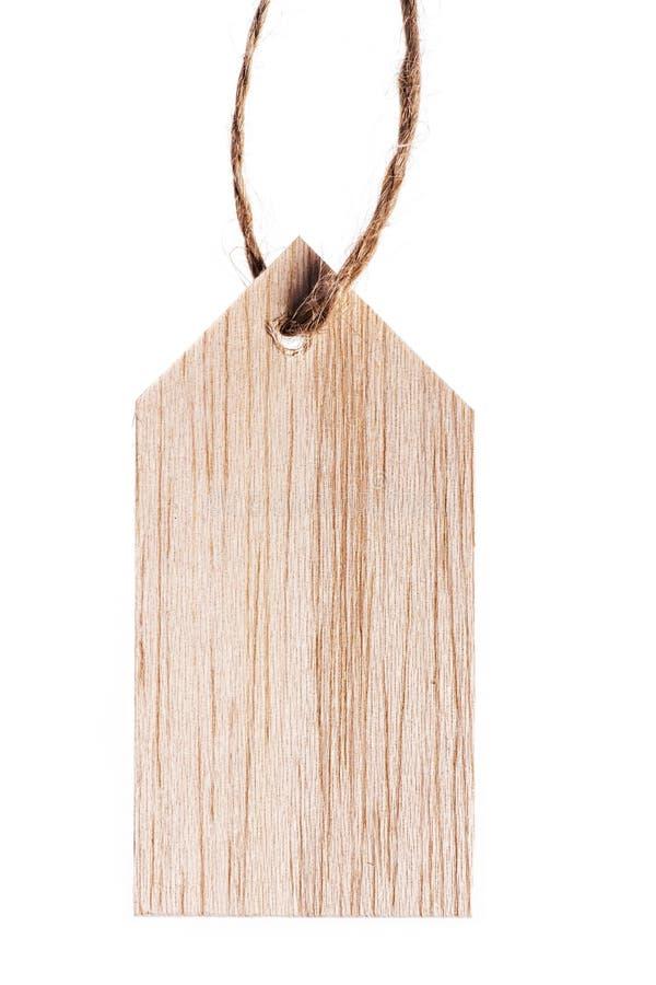 Деревянная бирка стоковая фотография