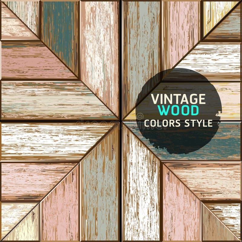 Деревянная винтажная предпосылка текстуры цвета. иллюстрация штока