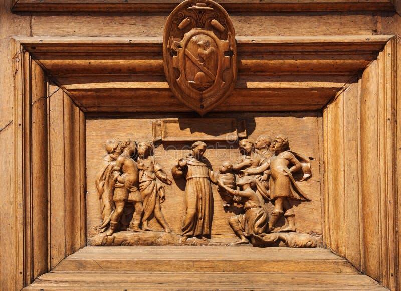 Деревянная гравировка стоковое фото rf
