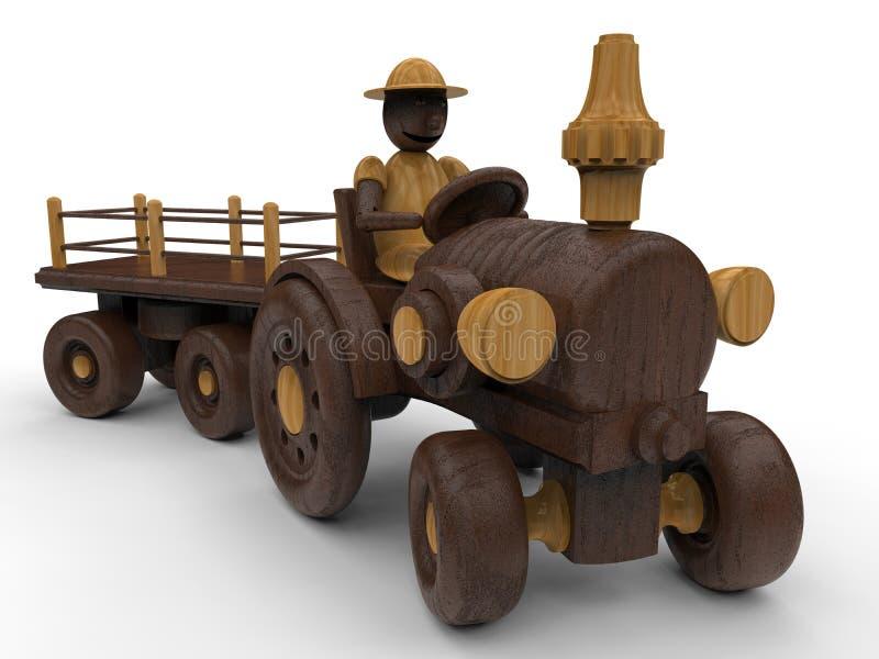 Деревянная детальная игрушка фермера бесплатная иллюстрация