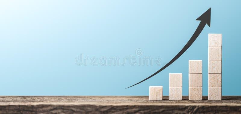 Деревянная диаграмма выгоды блока стоковое изображение rf