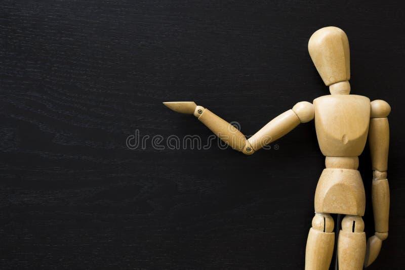 Деревянная диаграмма кукла древесины картины притяжки художника Manikin человеческая стоковые фото