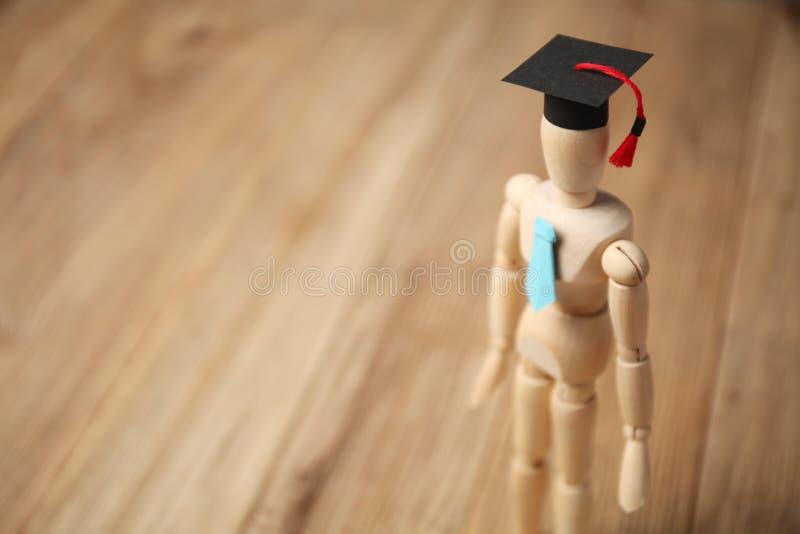 Деревянная диаграмма студента, обучение и образование стоковая фотография