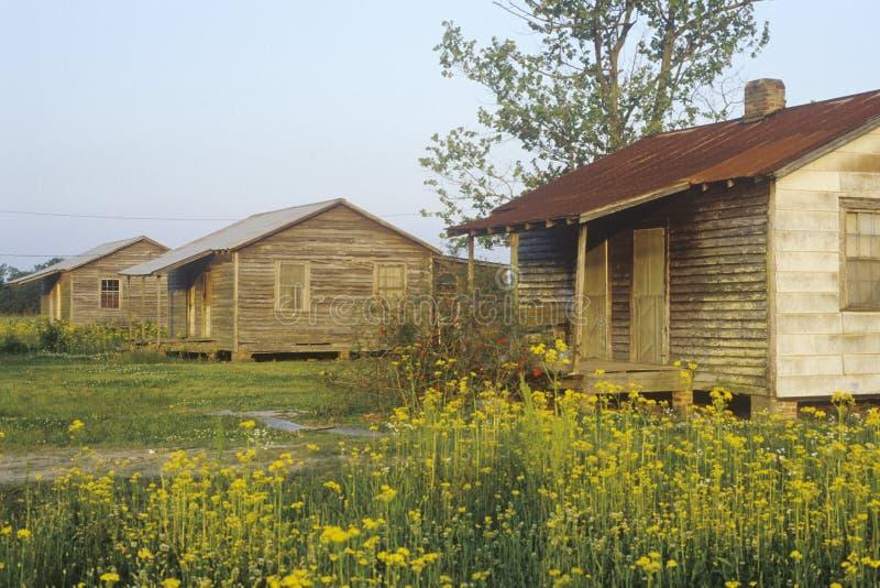 Деревянная дом slaves четверти стоковая фотография rf