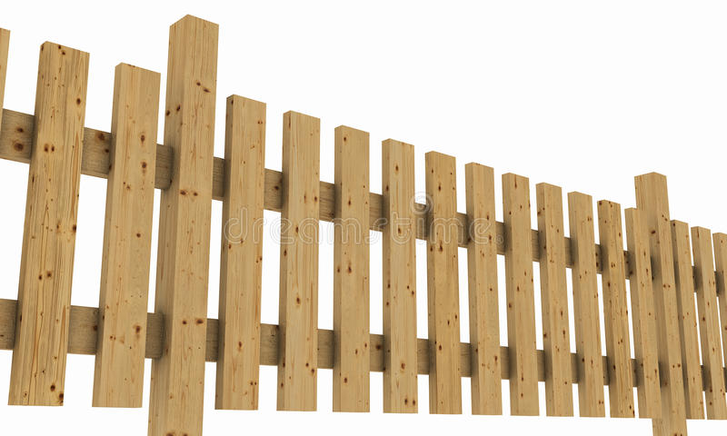 Деревянная загородка на белизне стоковое фото rf