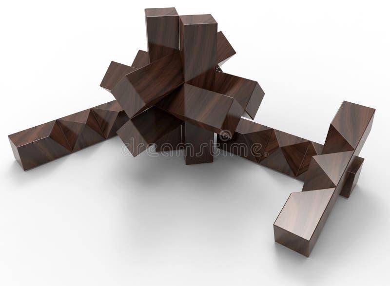 Деревянная игрушка головоломки бесплатная иллюстрация