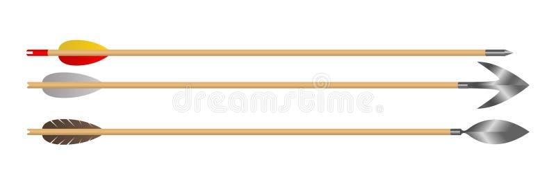 Деревянная иллюстрация дизайна вектора стрелки смычка иллюстрация штока
