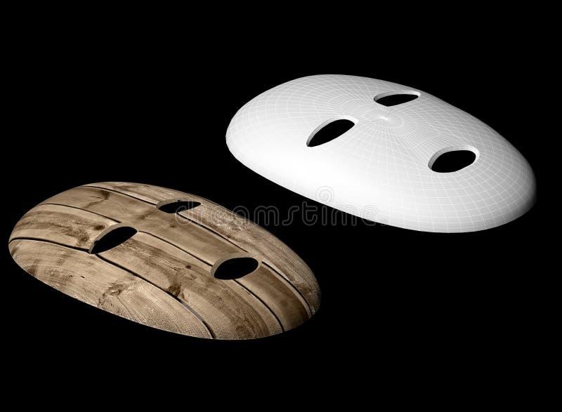 Деревянная иллюстрация маски 3d бесплатная иллюстрация