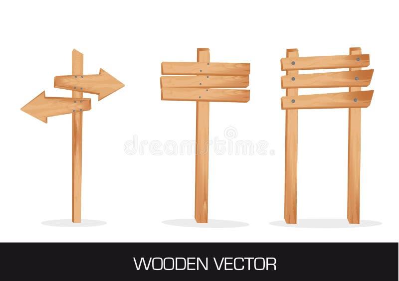Деревянная индикация иллюстрация вектора