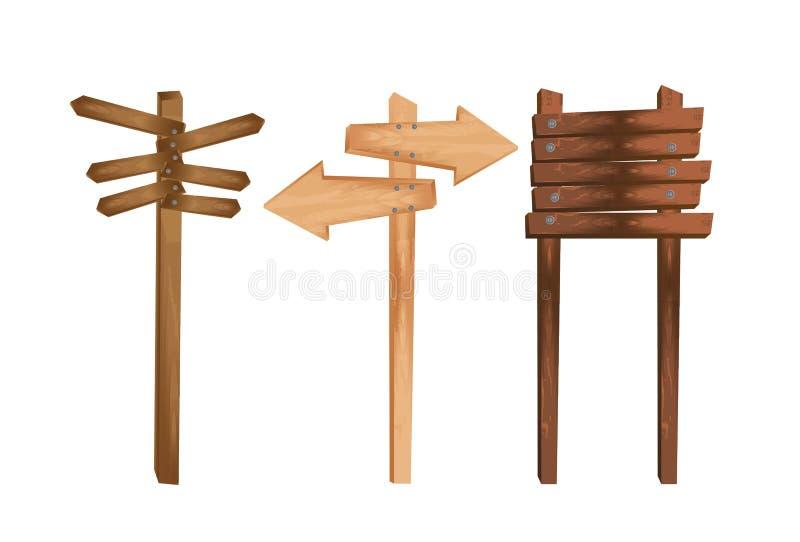 Деревянная индикация иллюстрация штока