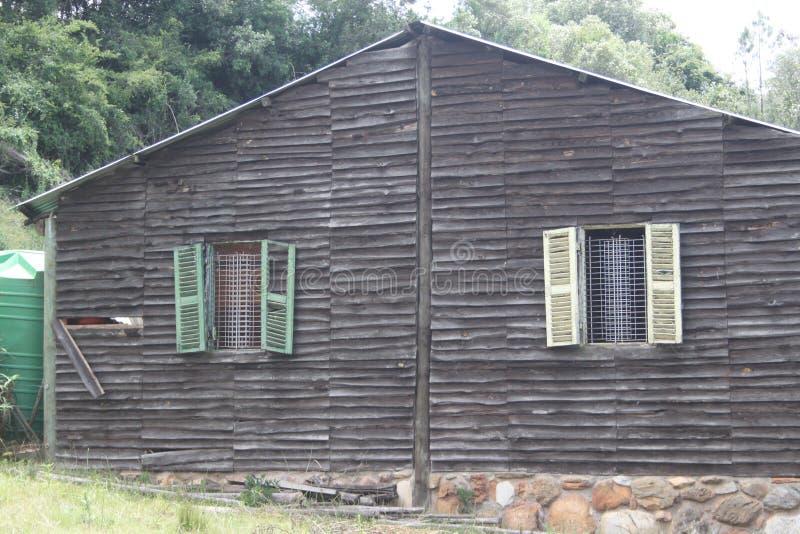 Деревянная кабина стоковое фото