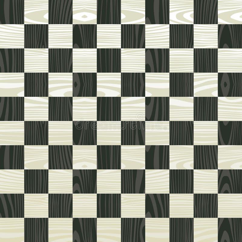Деревянная картина доски шахмат иллюстрация штока