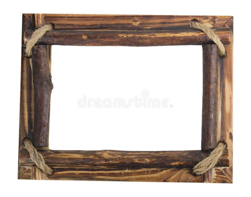 Деревянная картинная рамка иллюстрация вектора
