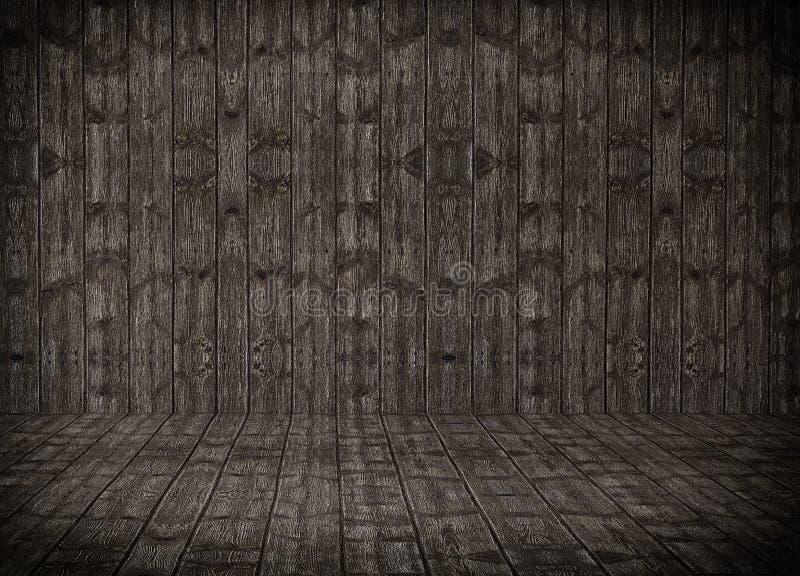 Деревянная комната иллюстрация штока