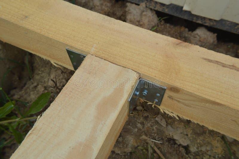 Деревянная конструкция и блоки стоковое фото