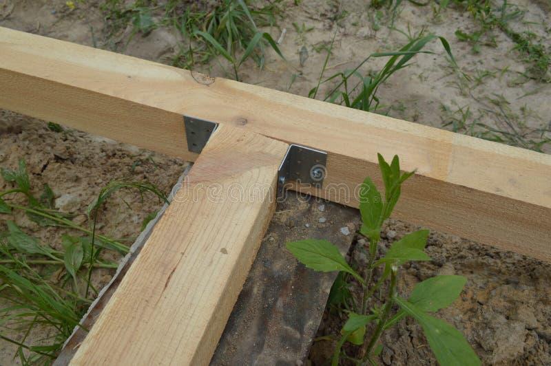 Деревянная конструкция и блоки стоковое фото rf