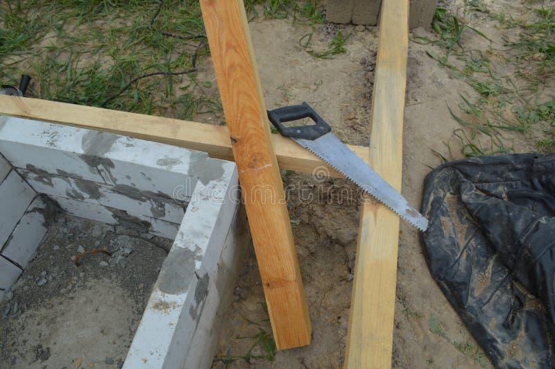 Деревянная конструкция и блоки стоковые фото