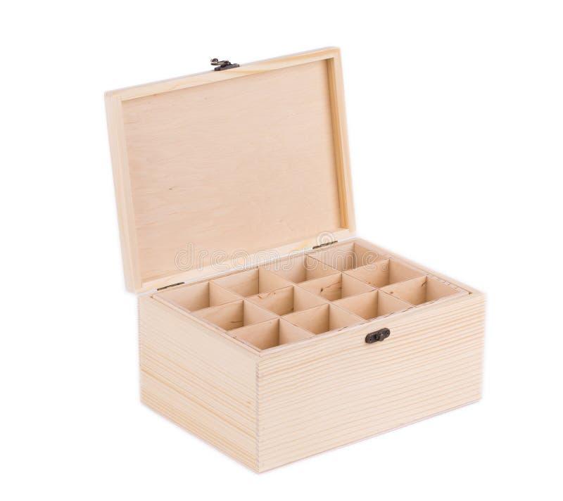 Деревянная коробка для шариков биллиарда стоковые фотографии rf
