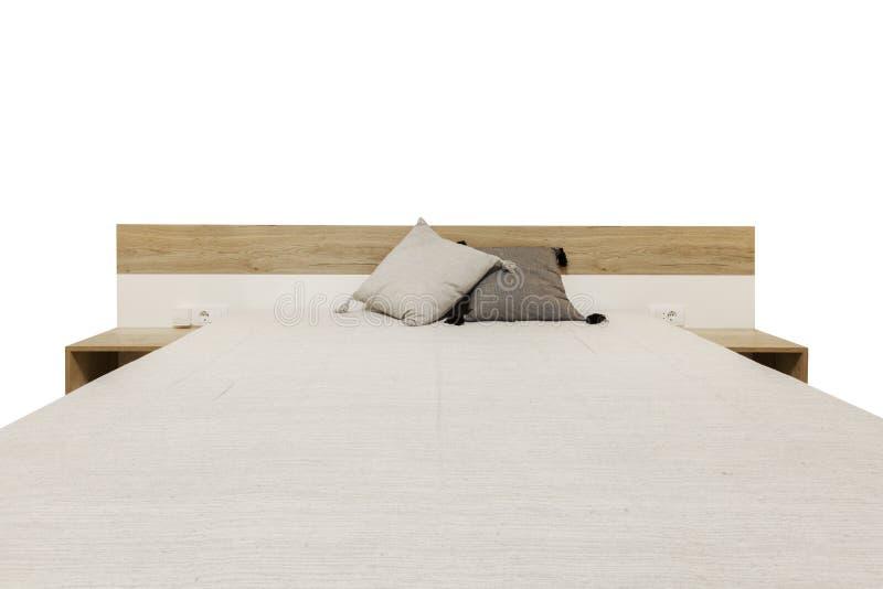 Деревянная кровать стоковые изображения