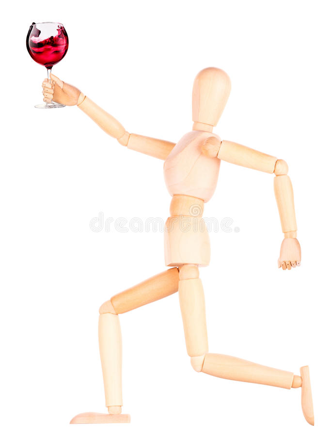 Download Деревянная кукла с вином стоковое изображение. изображение насчитывающей concept - 40577625