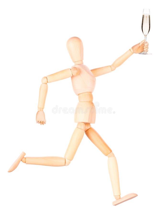 Download Деревянная кукла с шампанским Стоковое Фото - изображение насчитывающей утеха, диаграмма: 40577390